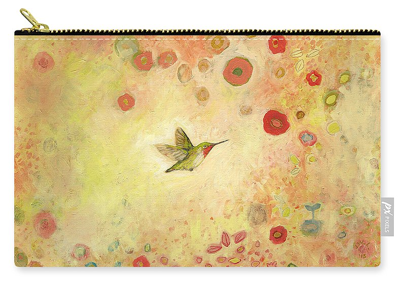Bird Carry-all Pouch featuring the painting Returning to Fairyland by Jennifer Lommers
