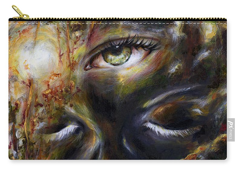 Eye Carry-all Pouch featuring the painting Revelation by Hiroko Sakai