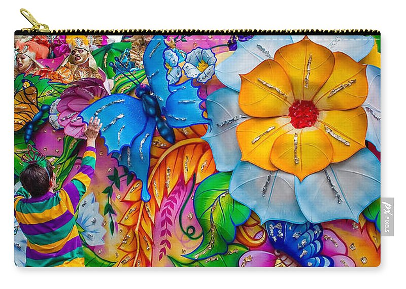 New Orleans Carry-all Pouch featuring the photograph Rex Mardi Gras Parade by Steve Harrington