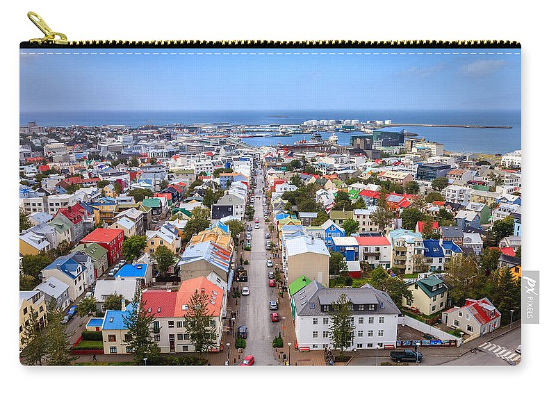 Europe Carry-all Pouch featuring the photograph Reykjavik Rooftops by Alexey Stiop
