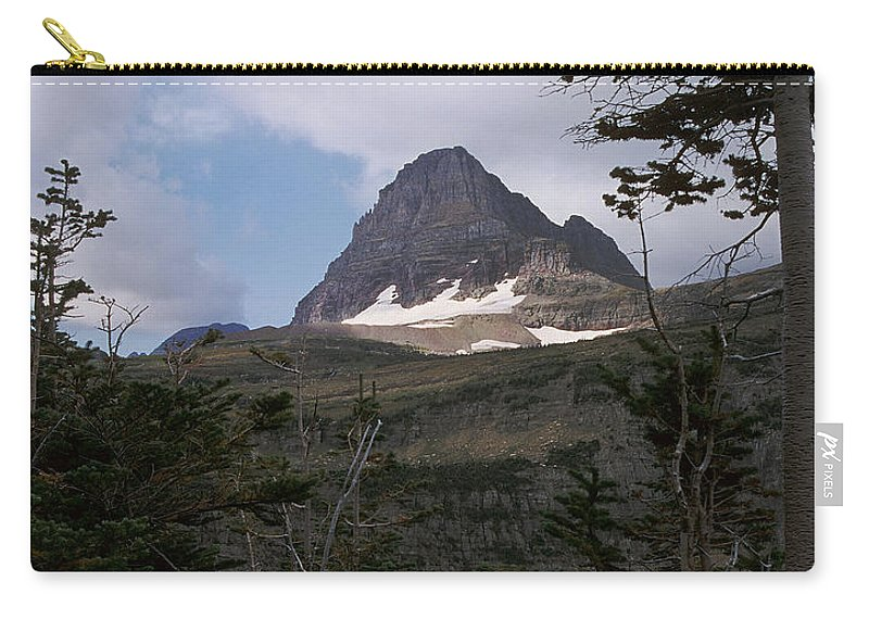Glacier National Park Carry-all Pouch featuring the photograph Reynolds Mountain by Sharon Elliott