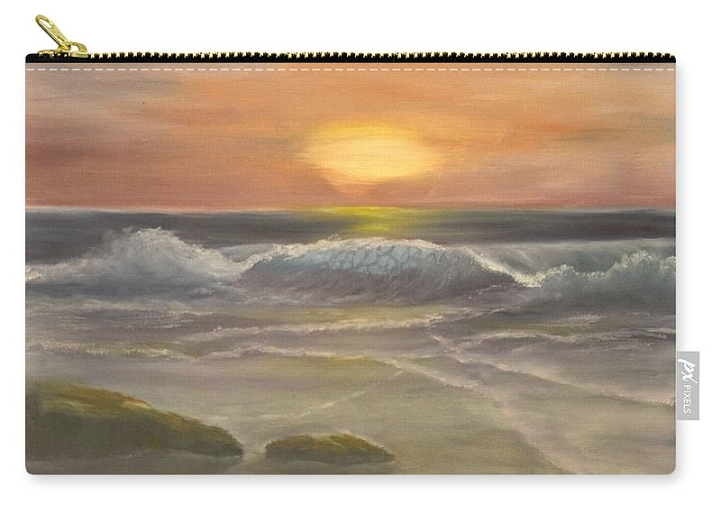 Seascape Carry-all Pouch featuring the painting Rhapsody Of Waves by Lou Magoncia