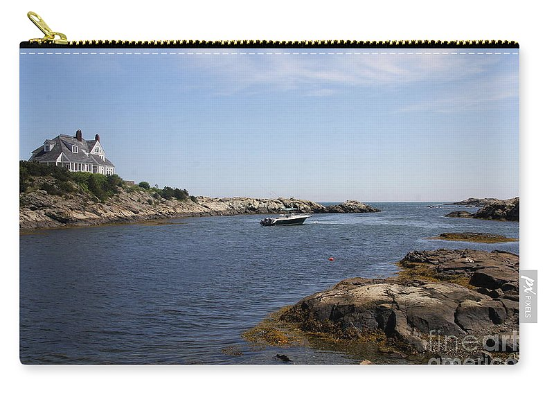 Rhode Island Carry-all Pouch featuring the photograph Rhode Island Seascape And House by Christiane Schulze Art And Photography