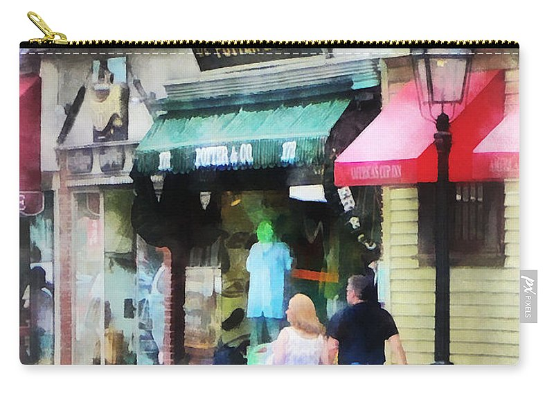 Newport Carry-all Pouch featuring the photograph Rhode Island - Thames Street Newport Ri by Susan Savad