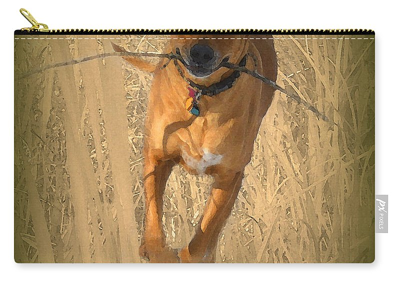Rhodesian Ridgeback Carry-all Pouch featuring the photograph Rhodesian Ridgeback by Mim White