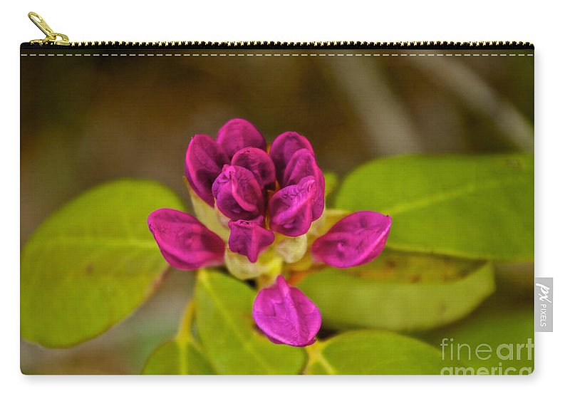 Flower Carry-all Pouch featuring the photograph Rhododendron Bud by William Norton