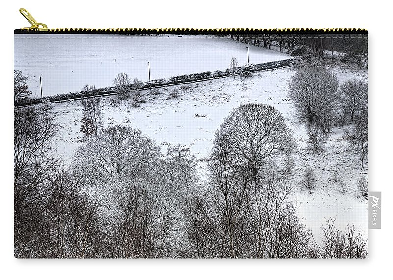 Winter Carry-all Pouch featuring the photograph Rhymney Valley Winter 4 by Steve Purnell
