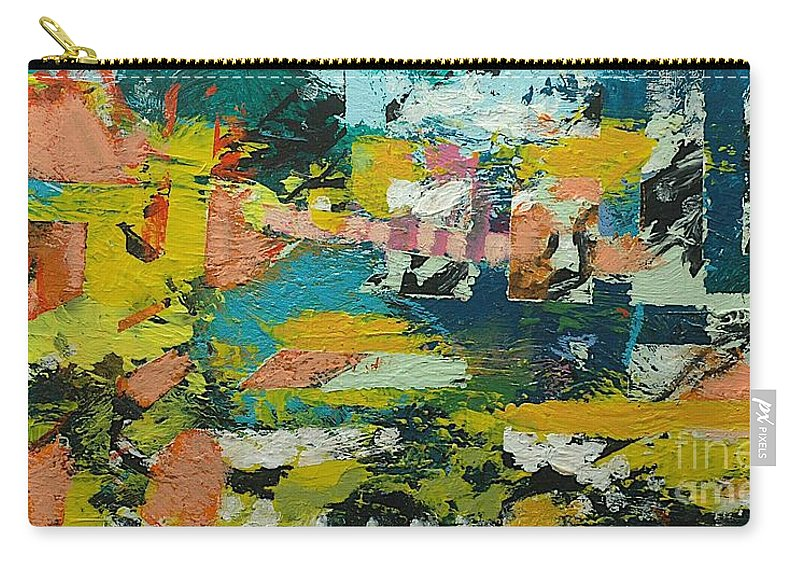 Landscape Carry-all Pouch featuring the painting Rhythm On Jackson by Allan P Friedlander