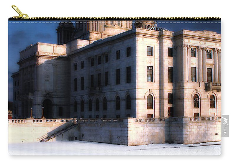 Rhode Island Carry-all Pouch featuring the photograph Ri State Capitol 1 by Mike Nellums
