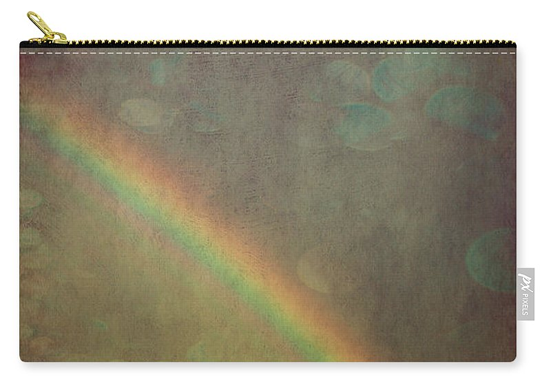 Clouds Carry-all Pouch featuring the photograph Ribbon Of Rain by Trish Mistric
