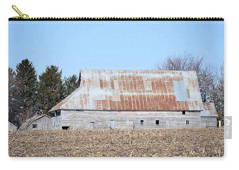 Rust Carry-all Pouch featuring the photograph Ribbon Roof Barn by Bonfire Photography