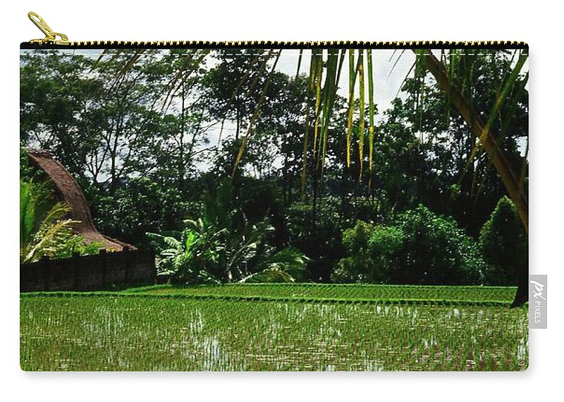 Asia Carry-all Pouch featuring the photograph Rice Fields Bali by Juergen Weiss