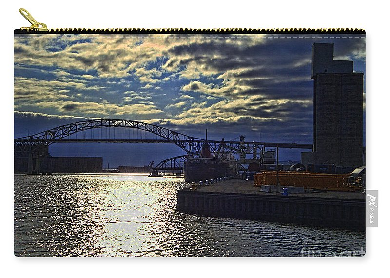 Richard I Bong Memorial Bridge Carry-all Pouch featuring the photograph Richard I Bong Memorial Bridge by Tommy Anderson