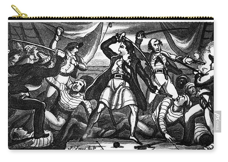 1719 Carry-all Pouch featuring the drawing Richard Worley (c1686-1719) by Granger