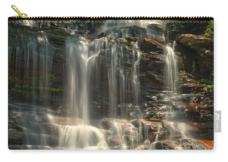 Ganoga Falls Carry-all Pouch featuring the photograph Ricketts Glen Ganoga Falls by Adam Jewell