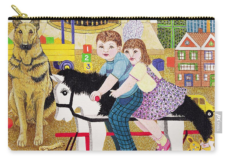 Kids Carry-all Pouch featuring the painting Ride-a-cock-horse by Pat Scott