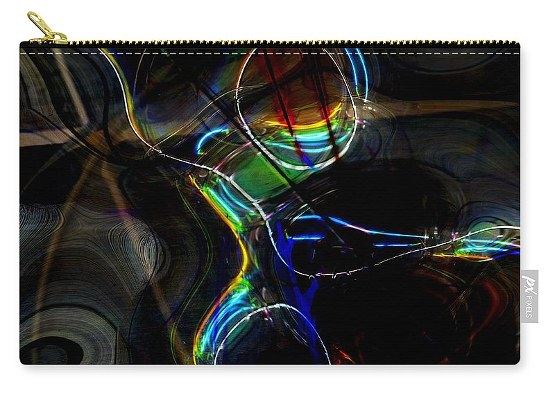 Abstract Carry-all Pouch featuring the digital art Ride by Richard Thomas