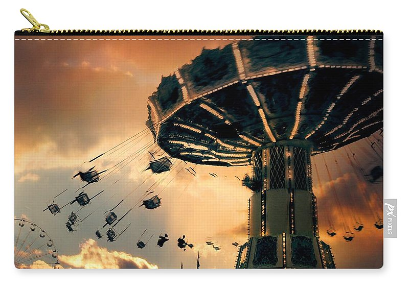 Clouds Carry-all Pouch featuring the photograph Ride The Clouds by Gothicrow Images