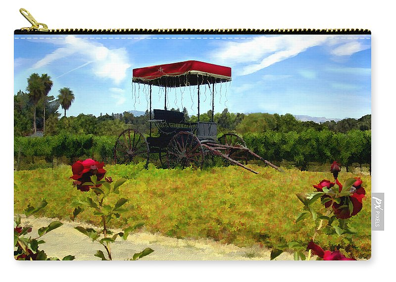 Rideau Vineyards Carry-all Pouch featuring the photograph Rideau Vineyards Solvang California by Kurt Van Wagner
