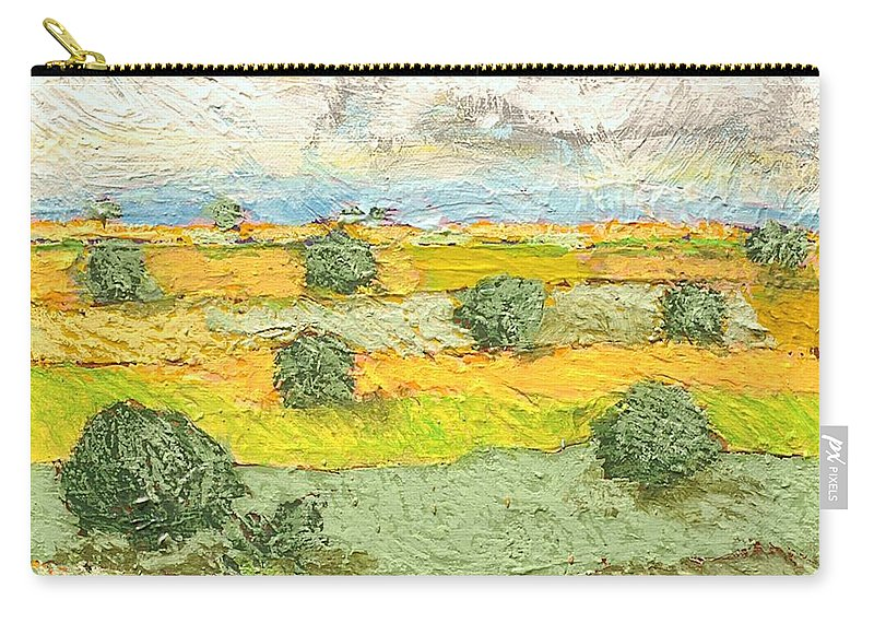 Landscape Carry-all Pouch featuring the painting Ridge Vista by Allan P Friedlander