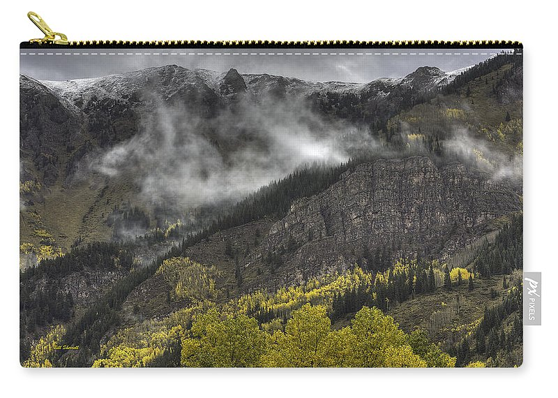 Landscape Carry-all Pouch featuring the photograph Ridges Of Fire by Bill Sherrell