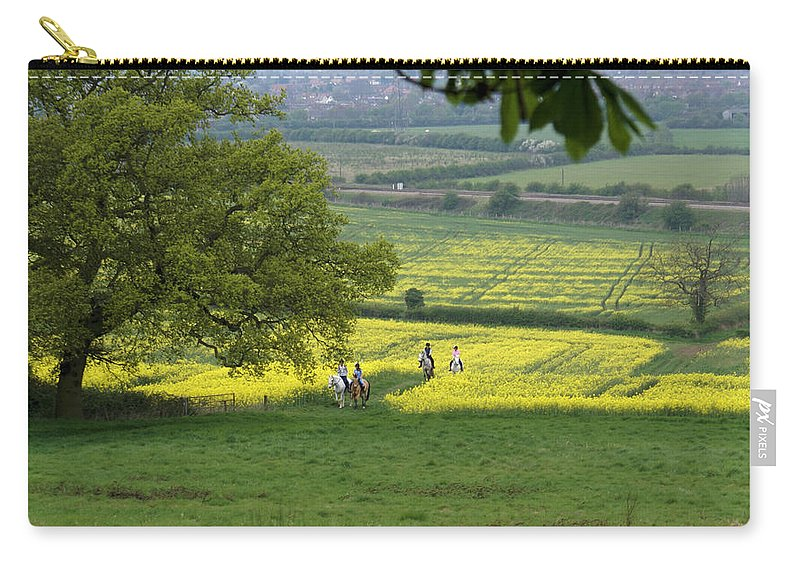 Horse Carry-all Pouch featuring the photograph Riding On Chosen Hill by Ron Harpham