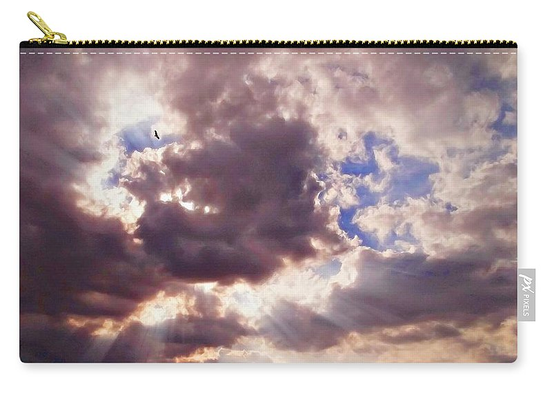 Soaring Eagle Carry-all Pouch featuring the photograph Riding The Invisible by Glenn McCarthy Art and Photography