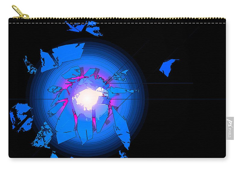 Digital Carry-all Pouch featuring the digital art Rift by Bob Geary