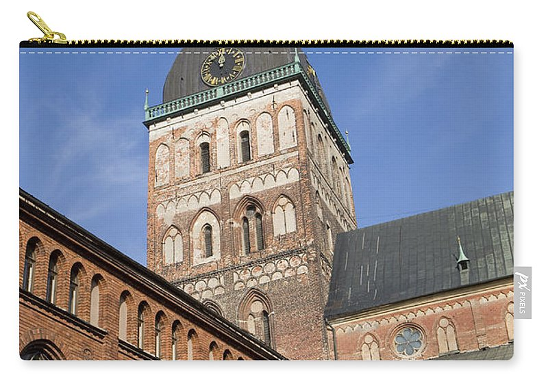 Travel Carry-all Pouch featuring the photograph Riga Cathedral by Jason O Watson