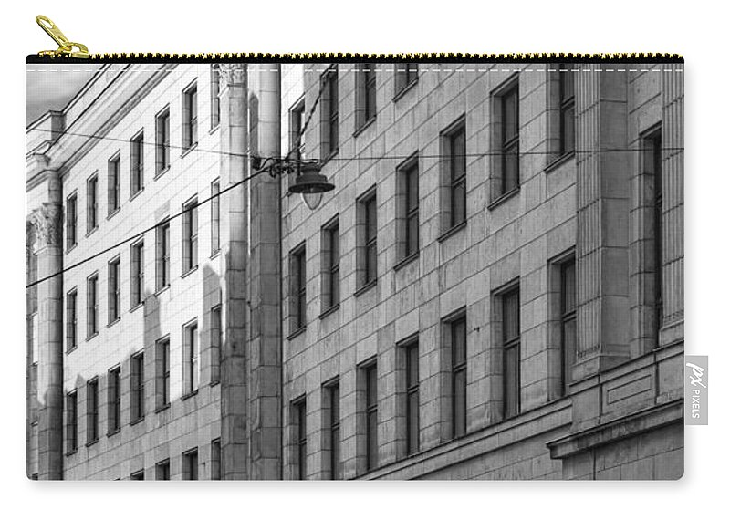 Architecture Carry-all Pouch featuring the photograph Riga Soviet Architecture 01 by Antony McAulay