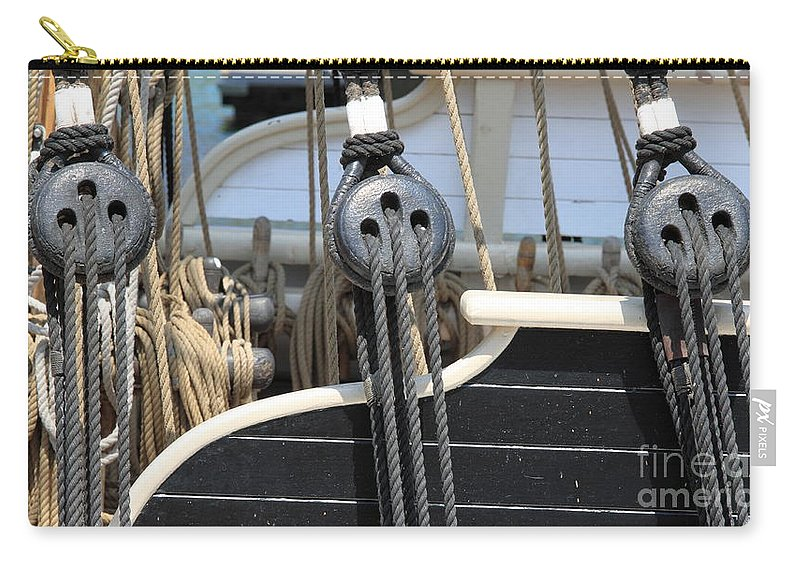 Rope Carry-all Pouch featuring the photograph Rigging by Henrik Lehnerer