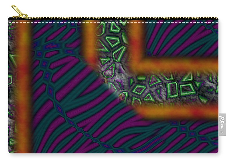Right Carry-all Pouch featuring the painting Right Angles by Christopher Gaston