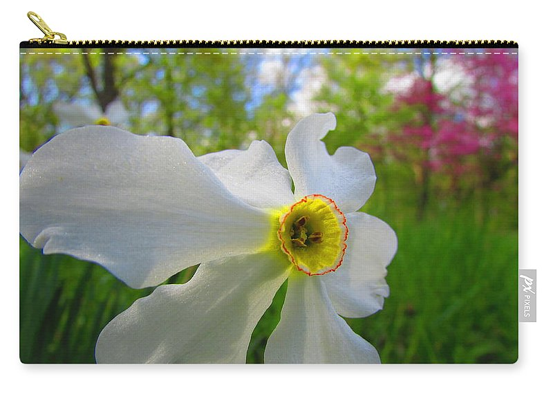 Spring Flower Carry-all Pouch featuring the photograph Ring Of Fire by David Mayeau