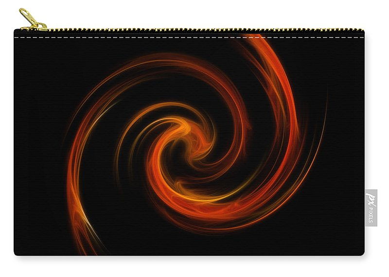 Digital Carry-all Pouch featuring the digital art Ring Of Fire by Yvonne Johnstone