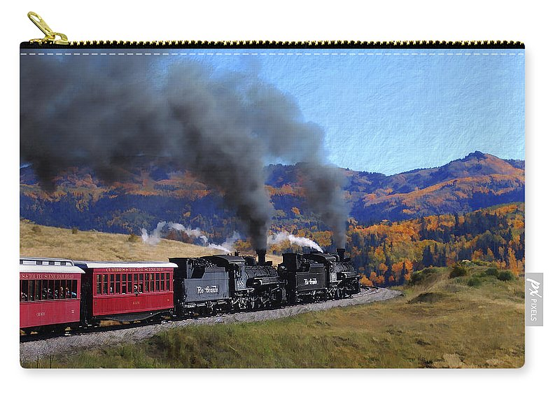 Railroad Carry-all Pouch featuring the photograph Rio Grande 488 And 489 by Kurt Van Wagner