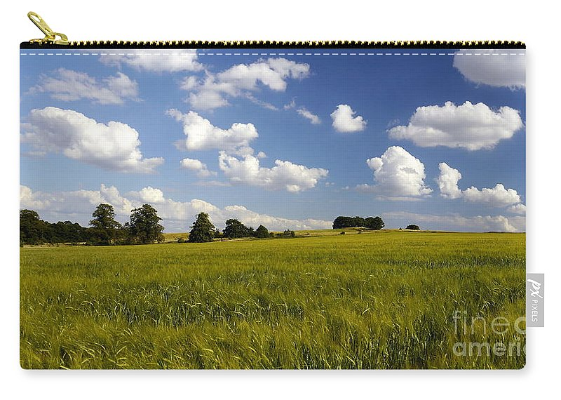 Barley Carry-all Pouch featuring the photograph Green Belt Land 2 by John Chatterley
