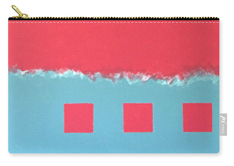 Geometric Carry-all Pouch featuring the painting Riptide by Thomas Gronowski
