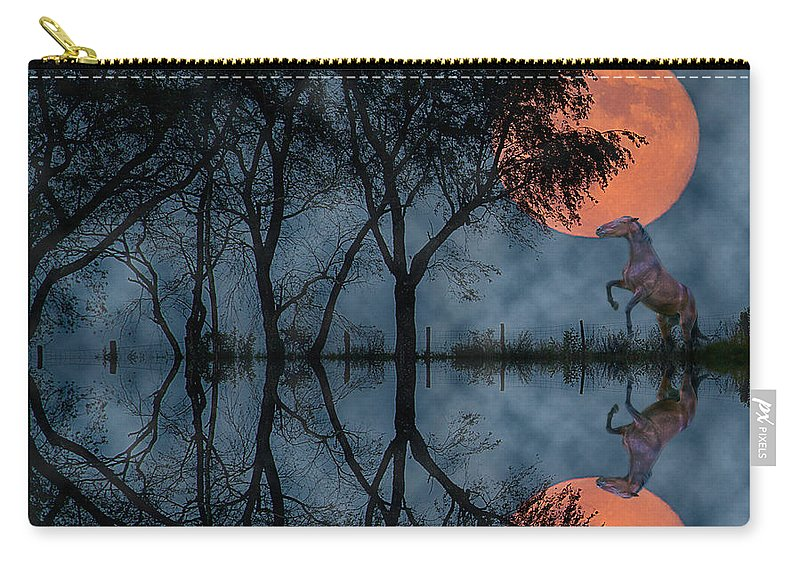 Horse Carry-all Pouch featuring the photograph Rise II by Betsy Knapp