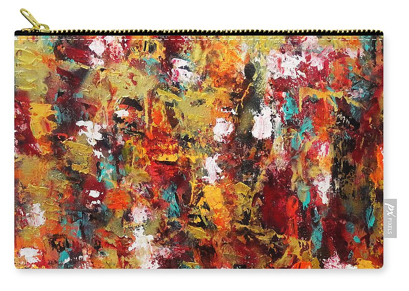 Abstract Carry-all Pouch featuring the painting Rise To A New Level by Yael VanGruber
