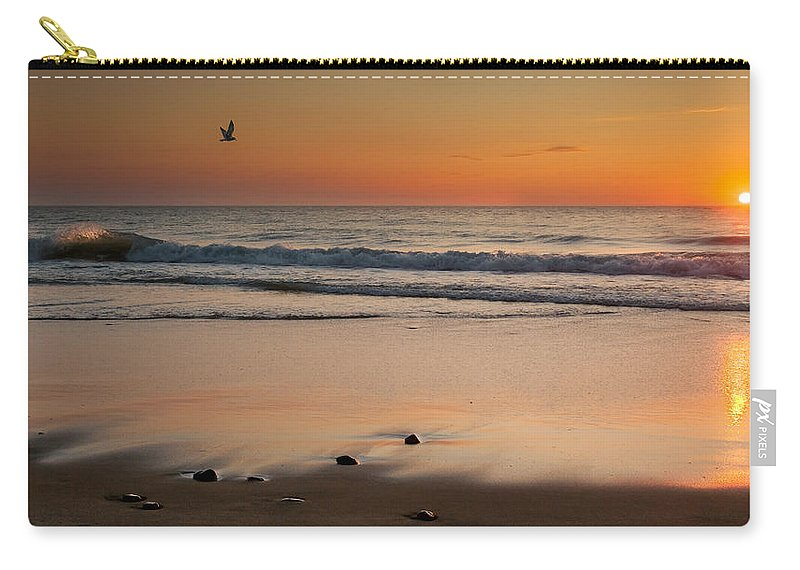 Cape Cod National Seashore Carry-all Pouch featuring the photograph Rising Sun by Bill Wakeley