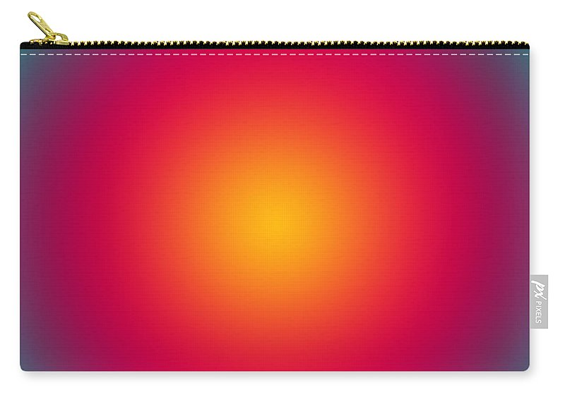 Mesmerizing Carry-all Pouch featuring the digital art Rising Sun Color Harmony by Gaspar Avila