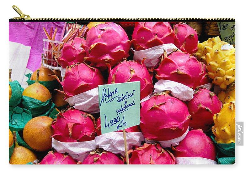 Ritaya Carry-all Pouch featuring the photograph Ritaya Fruit - Mercade Municipal by Julie Niemela