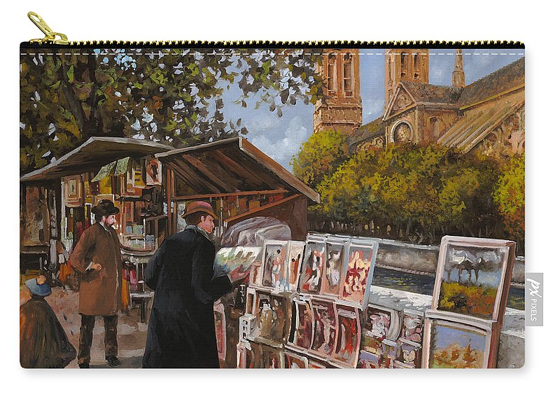 Paris Carry-all Pouch featuring the painting Rive Gouche by Guido Borelli