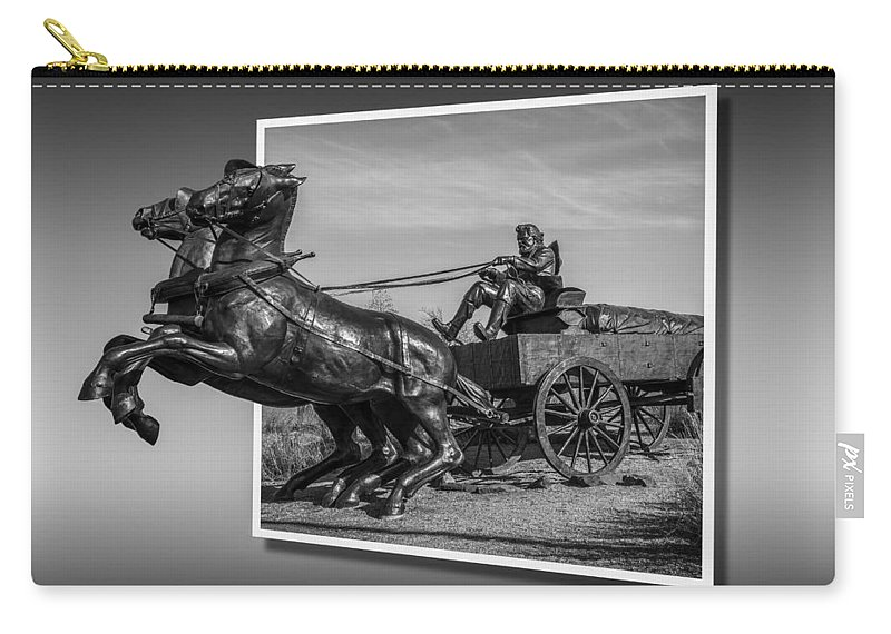 Antique Carry-all Pouch featuring the photograph River Crossing 2 by Doug Long