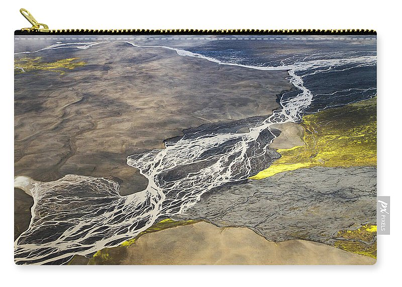 Iceland Carry-all Pouch featuring the photograph River Delta Iceland by For Ninety One Days