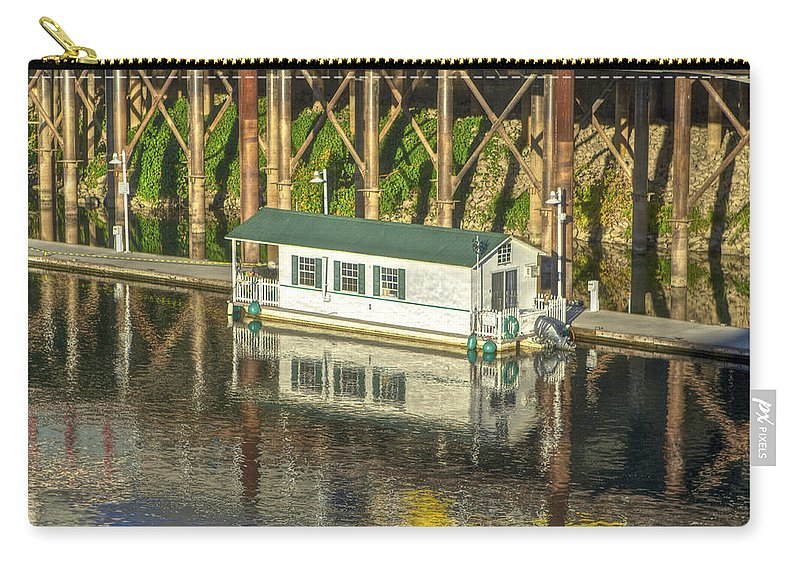 Boat Carry-all Pouch featuring the photograph River Front 2 Sacramento by SC Heffner