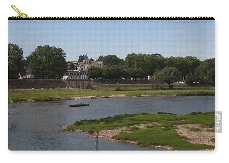 Boat Carry-all Pouch featuring the photograph River Loire Fishing Boat by Christiane Schulze Art And Photography