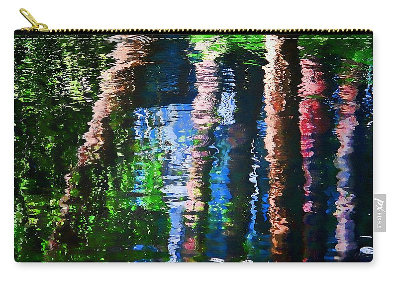Waterfall Carry-all Pouch featuring the photograph River Reflection by Dulce Levitz