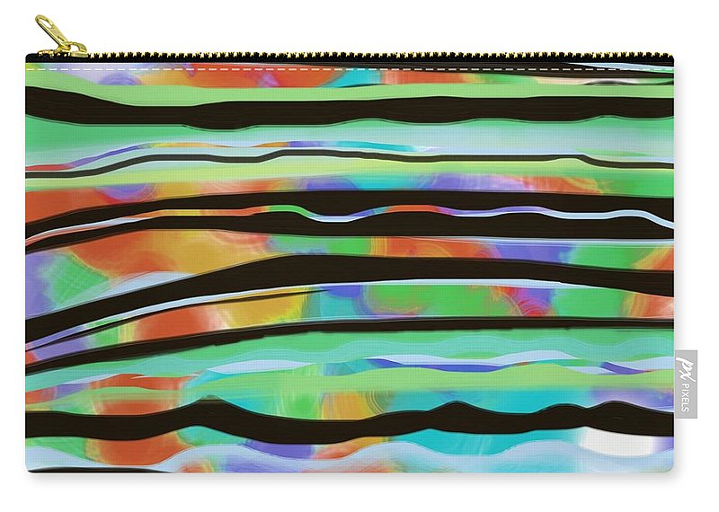River Carry-all Pouch featuring the painting River Stripe by Christine Fournier