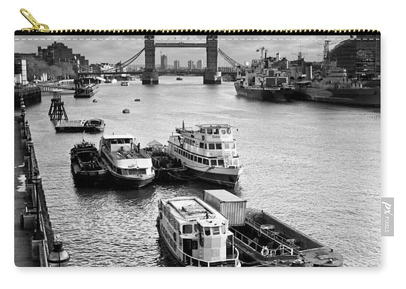 London Carry-all Pouch featuring the photograph River Thames View by David Pyatt